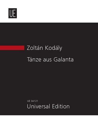 Tänze aus Galanta - KODALY - Partition - laflutedepan.com