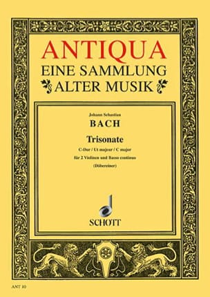 Triosonate C-Dur - 2 Violinen u. Bc - Stimmen BACH laflutedepan