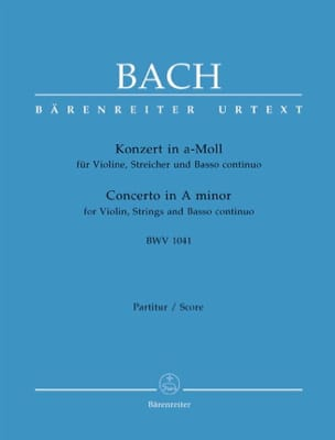 Konzert A-Moll BWV 1041 - Partitur BACH Partition laflutedepan
