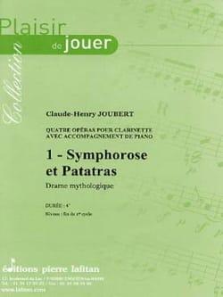 Claude-Henry Joubert - Symphorosis and Patatras - Partition - di-arezzo.co.uk