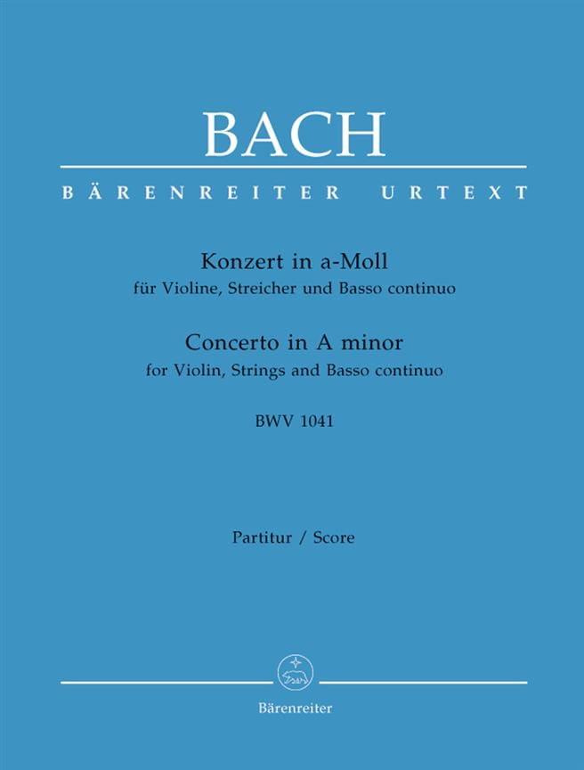 Konzert A-Moll BWV 1041 - Partitur - BACH - laflutedepan.com