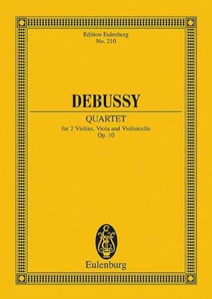 Quatuor à Cordes, Op. 10 - DEBUSSY - Partition - laflutedepan.com