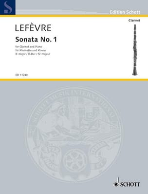 Sonate n° 1 pour clarinette Xavier Lefèvre Partition laflutedepan
