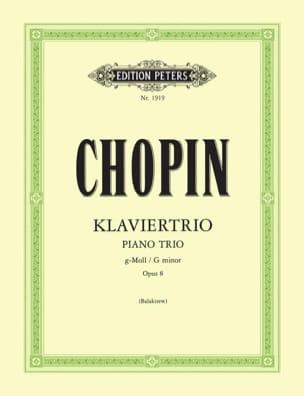Klaviertrio op. 8 g-moll -Stimmen CHOPIN Partition laflutedepan