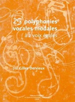 25 Polyphonies vocales modales Gilles Dervieux Partition laflutedepan