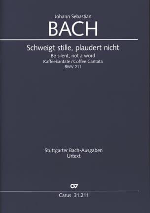 Cantate du Café, BWV 211 Johann Sebastian Bach Partition laflutedepan