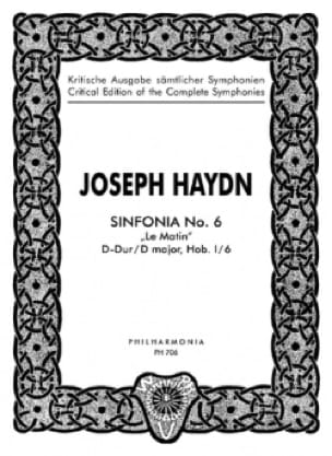 Symphonie Nr. 6 D-dur Hob. 1 : 6 - Partitur - HAYDN - laflutedepan.com