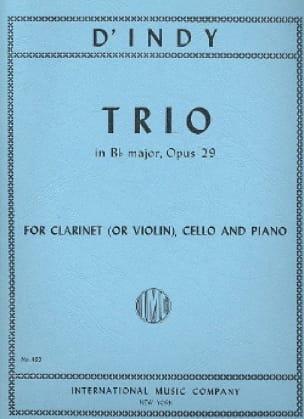 Trio en Sib M., Op. 29 - Clarinette ou Violon, Violoncelle et Piano - laflutedepan.com