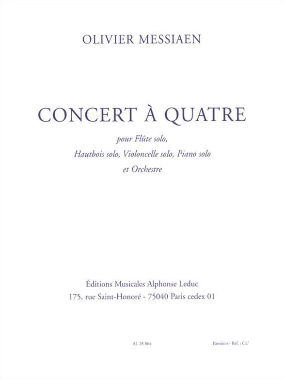 Concert à quatre - MESSIAEN - Partition - laflutedepan.com