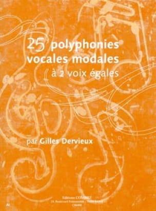 25 Polyphonies vocales modales - Gilles Dervieux - laflutedepan.com