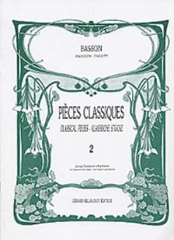 Pièces Classiques Volume 2 -basson Partition Basson - laflutedepan