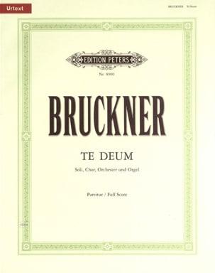 Te Deum BRUCKNER Partition Grand format - laflutedepan