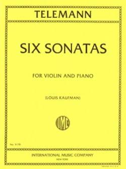 6 Sonates TELEMANN Partition Violon - laflutedepan