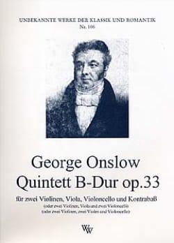 Quintett B-Dur op. 33 -Stimmen Georges Onslow Partition laflutedepan