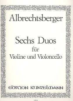 6 Duos - Violine Violoncello - laflutedepan.com