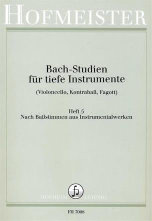 Bach Studien für tiefe Instr. - Heft 5 BACH Partition laflutedepan