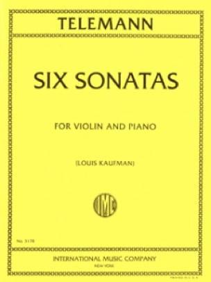6 Sonates - TELEMANN - Partition - Violon - laflutedepan.com
