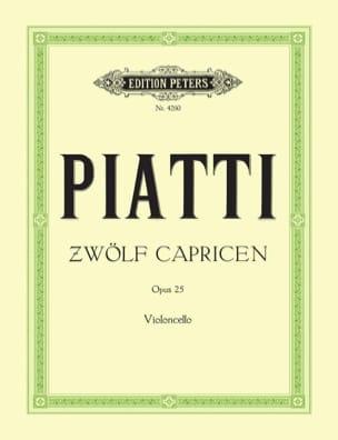 12 Capricen op. 25 Alfredo C. Piatti Partition laflutedepan