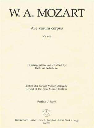 Ave verum corpus KV 618 - Partitur MOZART Partition laflutedepan