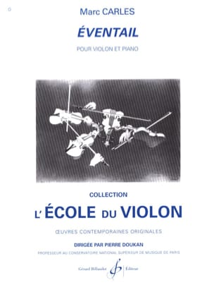 Eventail Marc Carles Partition Violon - laflutedepan