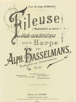 La Fileuse op 27 - Harpe Alphonse Hasselmans Partition laflutedepan