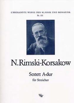 Sextuor en la Majeur RIMSKY-KORSAKOV Partition Sextuors - laflutedepan