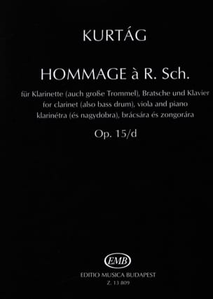 Hommage A R. Sch. op. 15/d KURTAG Partition Trios - laflutedepan