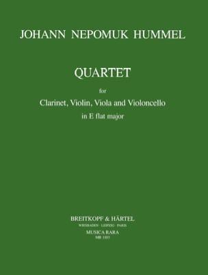 Quartet E flat maj. - Clarinet violin viola cello HUMMEL laflutedepan