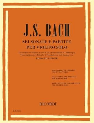 Johann Sebastian Bach - 6 Sonates et Partitas - Partition - di-arezzo.fr