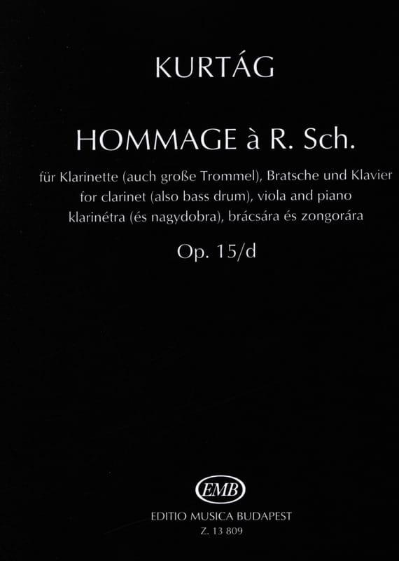 Hommage A R. Sch. op. 15/d - KURTAG - Partition - laflutedepan.com