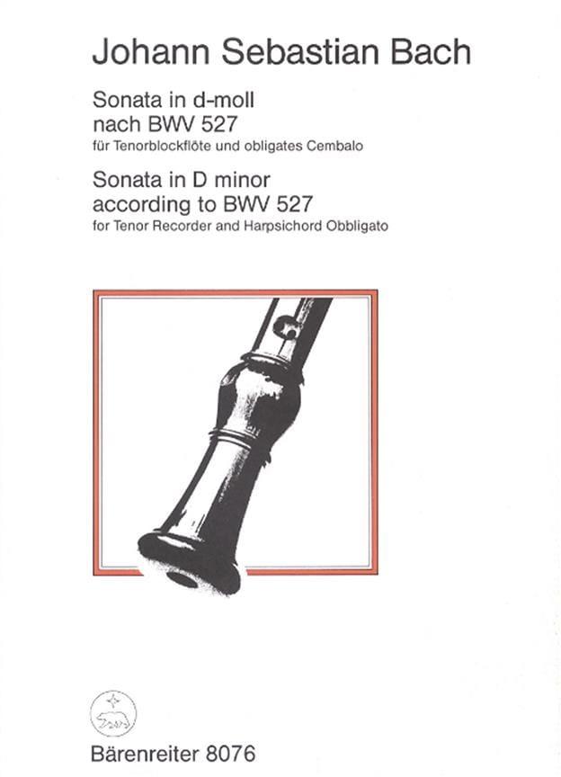 Sonata D-Moll nach BWV 527 - Tenorblockflöte - BACH - laflutedepan.com