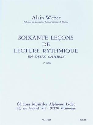 60 Leçons de lecture rythmique - Volume 1 Alain Weber laflutedepan