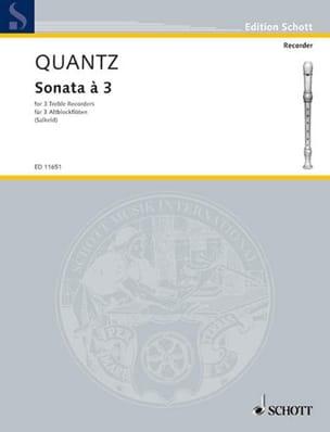 Sonata à 3 - 3 Altblockflöten QUANTZ Partition laflutedepan