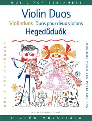 Duos pour les premiers pas, 2 violons Lajos Vigh laflutedepan