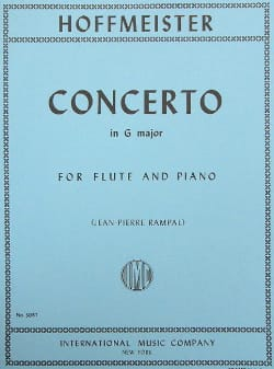 Concerto in G major - Flute piano HOFFMEISTER Partition laflutedepan