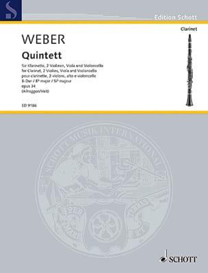 Quintett B-Dur op. 34 -Klarinette Streichquartett laflutedepan