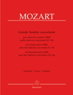 Grande Sestetto Concertante -Partitur - MOZART - laflutedepan.com