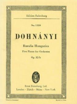 Ruralia Hungarica, op. 32b DONHANYI Partition laflutedepan
