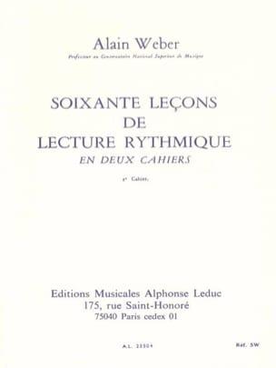 60 Leçons de lecture rythmique - Volume 2 Alain Weber laflutedepan