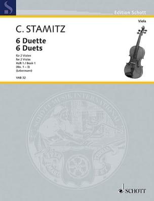 6 Duette, Heft 1 STAMITZ Partition Alto - laflutedepan