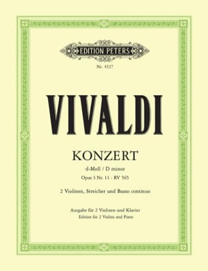 Konzert D-Moll Op. 3 N° 11 Rv 565 VIVALDI Partition laflutedepan
