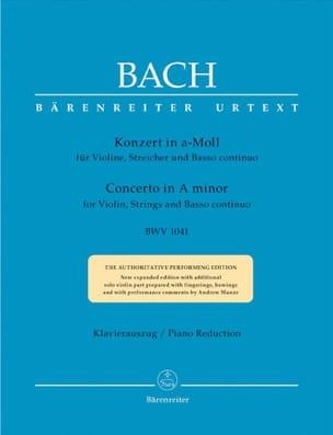 Concerto pour violon en la mineur BWV 1041 BACH Partition laflutedepan