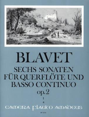 6 Sonaten op. 2 Bd. 1 - Flöte und Bc Michel Blavet laflutedepan