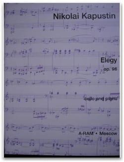 Elegy op. 96 Nikolai Kapustin Partition Violoncelle - laflutedepan