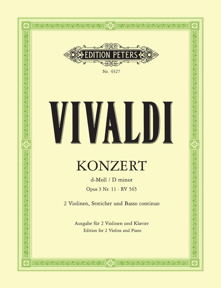Konzert D-Moll Op. 3 N° 11 Rv 565 - VIVALDI - laflutedepan.com