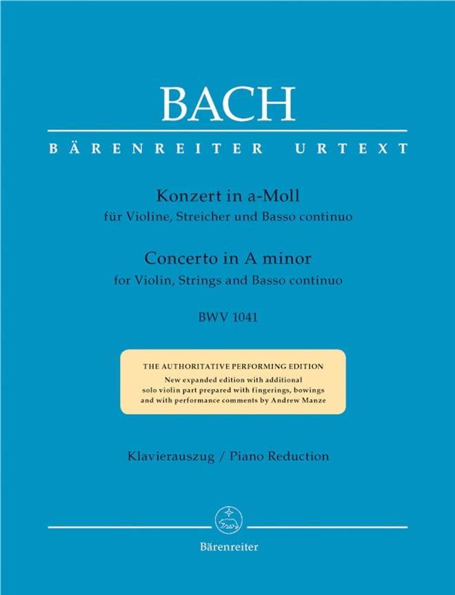 Concerto pour violon en la mineur BWV 1041 - BACH - laflutedepan.com