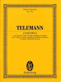 Konzert e-moll TELEMANN Partition Petit format - laflutedepan
