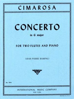 Concerto in G major -2 Flutes piano CIMAROSA Partition laflutedepan