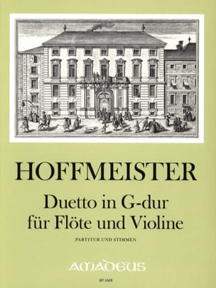 Duetto En Sol Maj. HOFFMEISTER Partition Duos - laflutedepan