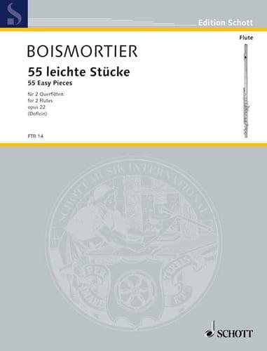 55 Leichte Stücke op. 22 - 2 Flöten - BOISMORTIER - laflutedepan.com